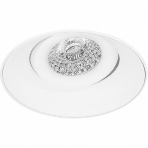 Spot Armatuur GU10 - Pragmi Nivas Pro - Inbouw Rond - Mat Wit - Aluminium - Trimless - Kantelbaar - Ø150mm