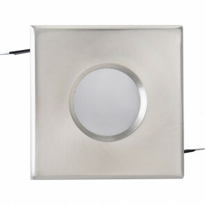 Spot Armatuur GU10 - Waterdicht IP65 - Inbouw Vierkant - Mat Chroom Aluminium/Glas - 82mm