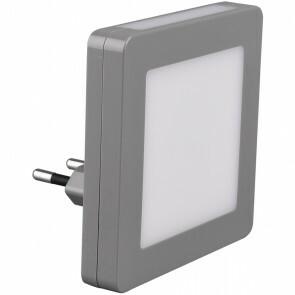 Stekkerlamp Lamp - Stekkerspot - Trion Hiko - 3W - Warm Wit 3000K - Vierkant - Mat Grijs - Kunststof