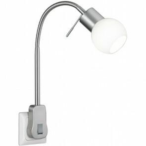 Stekkerlamp Lamp - Trion Frido - G9 Fitting - 3W - Warm Wit 3000K - Dimbaar - Mat Nikkel - Aluminium