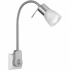 Stekkerlamp Lamp - Trion Levino - E14 Fitting - 6W - Warm Wit 3000K - Mat Nikkel - Aluminium