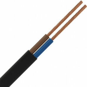 Stroomkabel - 2x0.75mm - 2 Aderig - 1 Meter - Zwart