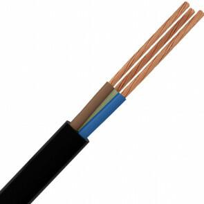 Stroomkabel - 2x0.75mm - 2 Aderig - 1 Meter - Wit