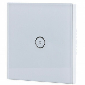 Touchschakelaar Smart WiFi - Aigi Smarton - Inbouw - 1-voudig Touch Schakelaar - Incl. Glazen Afdekraam - Wit