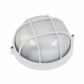 Tuinverlichting / Buitenverlichting / Buitenlamp / Wandlamp Rond Mat Wit 17x8cm Modern Aluminium/Glas E27 IP54