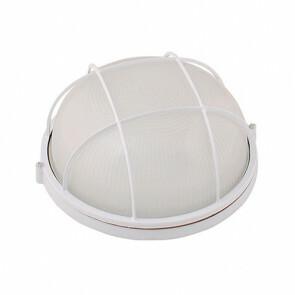 Tuinverlichting / Buitenverlichting / Buitenlamp / Wandlamp Rond Mat Wit 24x11.5cm Modern Aluminium/Glas E27 IP54