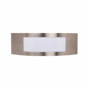 Tuinverlichting / Buitenverlichting / Buitenlamp / Wandlamp Vierkant/Ovaal Mat Chroom 31.5x10cm Modern RVS/PC E27 IP44 Enkel