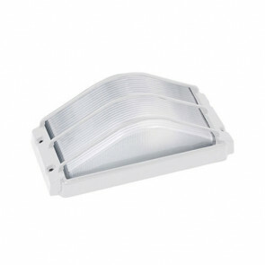 Tuinverlichting / Buitenverlichting / Buitenlamp / Wandlamp Vierkant/Ovaal Mat Wit 26.5x13cm Modern Aluminium/Glas E27 IP54