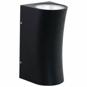 Tuinverlichting / Buitenverlichting / Buitenlamp / Wandlamp Vierkant/Ovaal Mat Zwart 12W 4200K Natuurlijk Wit 10.5x20cm Modern Aluminium/Glas IP65 Dubbel
