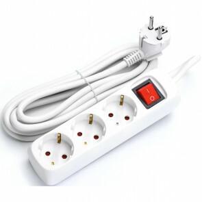 Verlengsnoer - Aigi Antris - 3680W - 3 Stopcontacten - 5 Meter - Wit