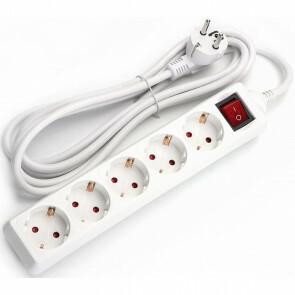 Verlengsnoer - Aigi Antris - 3680W - 5 Stopcontacten - 1.5 Meter - Wit