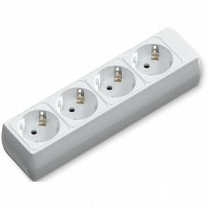 Verlengsnoer - Aigi Bovun - 3680W - 4 Stopcontacten - Wit