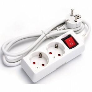 Verlengsnoer - Aigi Frutsi - 3680W - 2 Stopcontacten - 1.5 Meter - Wit
